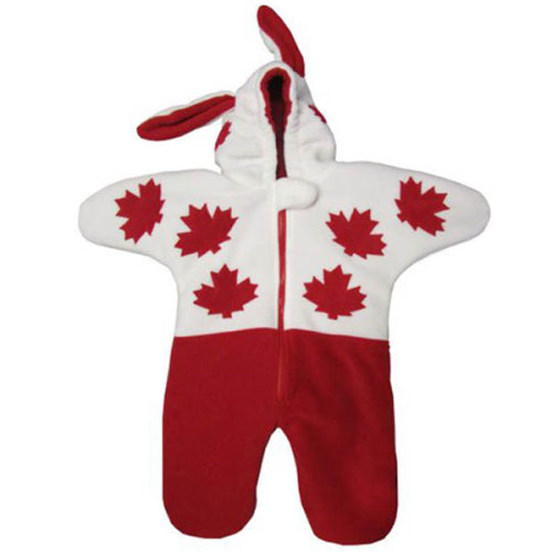 ML INFANT CANADA SNOW BUNNY BUNTING BAG RED Made in Canada