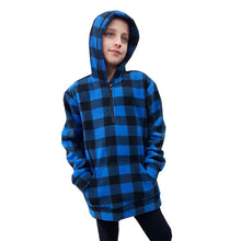 YOUTH HOODED 1/4 ZIP PULLOVER Made in Canada