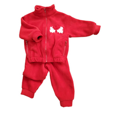 CHILD CANADA BOMBER JACKET SET RED Made in Canada