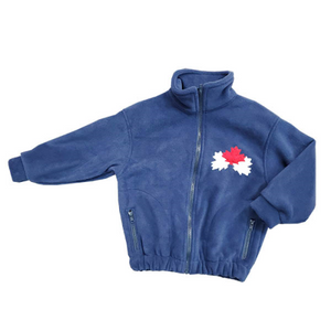 CHILD CANADA BOMBER JACKET NAVY Made in Canada