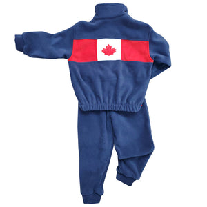 CHILD CANADA BOMBER JACKET SET NAVY Made in Canada