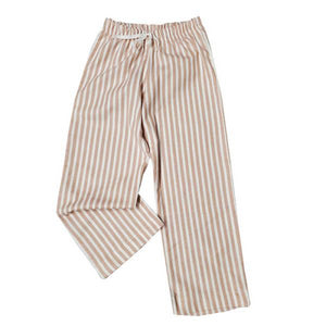 CHILD SLEEP PANTS - BLUSH STRIPE Made in Canada