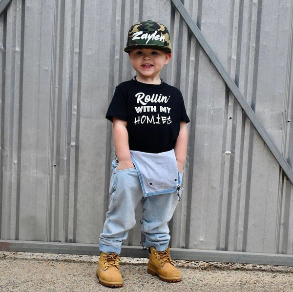 ROLLIN WITH MY HOMIES - KIDS TEES