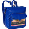 Royal blue all in one display with Silver hardware - CariWare