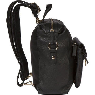 Ita Backpack for Pins 5-in-1 - Converts to Crossbody Tote and Fanny pack Display--Black with Silver or Gold Hardware Ready to Ship