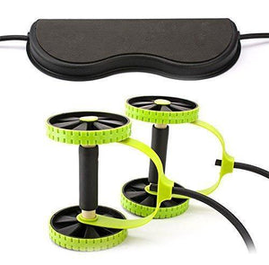 New Sport Core Double AB Roller Exercise Equipment,Professional Ab Wheel Roller Supports,Abdominal Workout Machine - Allwaystore