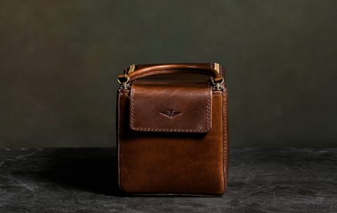 Satchel & Page Dopp Kit with Italian leather