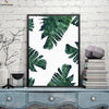 Canvasstand Dark green leaves wall decor canvas wall art
