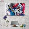 One piece Patriots Kyle Van Noy canvas wall art