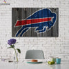 One piece Vintage Buffalo Bills Logo canvas wall art - Canvas Monsters