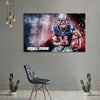 One piece Patriots Julian Edelman running canvas wall art