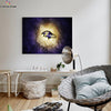 One piece Baltimore Ravens logo canvas wall art - Canvas Monsters