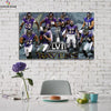 One piece Baltimore Ravens Champion canvas wall art - Canvas Monsters