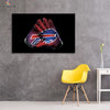 One piece Buffalo Bills Gloves canvas wall art - Canvas Monsters