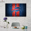 One piece Buffalo Bills Logo on board canvas wall art