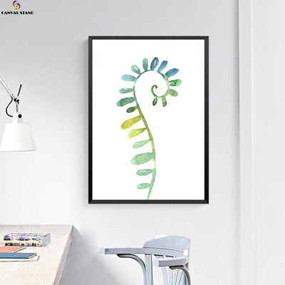Canvasstand Horse shape leaf wall decor canvas wall art - Canvas Monsters