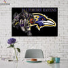 One piece Baltimore Ravens Eagle canvas wall art - Canvas Monsters