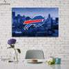 One piece Buffalo Bills Logo City View canvas wall art - Canvas Monsters
