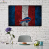 One piece Buffalo Bills Logo With great players canvas wall art