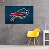 One piece Buffalo Bills Logo Blue background canvas wall art - Canvas Monsters