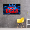 One piece Buffalo Bills Stadium Background canvas wall art - Canvas Monsters