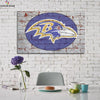 One piece Baltimore Ravens Vintage logo canvas wall art - Canvas Monsters