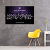 One piece Baltimore Ravens Kings of the North canvas wall art