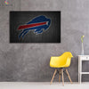 One piece Buffalo Bills Logo canvas wall art - Canvas Monsters