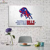 One piece Buffalo Bills Logo view canvas wall art - Canvas Monsters