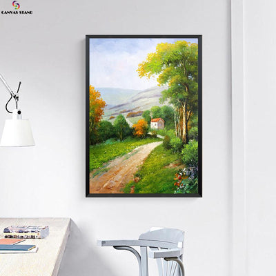 Canvasstand country road house wall decor canvas wall art - Canvas Monsters