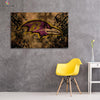 One piece Baltimore Ravens Vintage logo canvas wall art