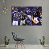 One piece Baltimore Ravens Team canvas wall art - Canvas Monsters