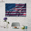 One piece Patriots US FLag canvas wall art