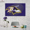 One piece Baltimore Ravens Ball background canvas wall art - Canvas Monsters