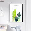 Canvasstand Cactus Nordic simple life wall decor canvas wall art