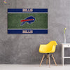 One piece Buffalo Bills Logo on grass canvas wall art - Canvas Monsters