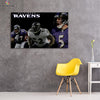 One piece Baltimore Ravens Great Players canvas wall art - Canvas Monsters