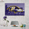 One piece Baltimore Ravens City View canvas wall art