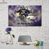 One piece Baltimore Ravens Logo on wall canvas wall art - Canvas Monsters