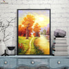 Canvasstand Sunset country road wall decor canvas wall art