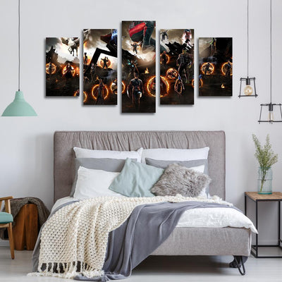 Avengers Endgame all superheros canvas prints
