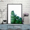 Canvasstand Two green leaves wall decor canvas wall art