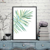 Canvasstand Fan shape leaf wall decor canvas wall art