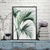 Canvasstand Thin green leaves wall decor canvas wall art