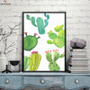 Canvasstand Four cactuses wall decor canvas wall art