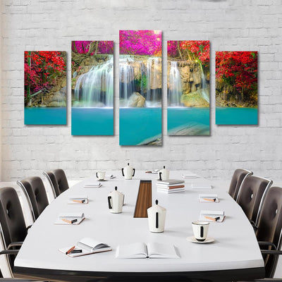 5PCS waterfall flower canvas prints - Canvas Monsters