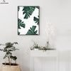 Canvasstand Dark green leaves wall decor canvas wall art - Canvas Monsters