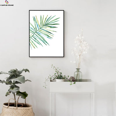 Canvasstand Fan shape leaf wall decor canvas wall art - Canvas Monsters