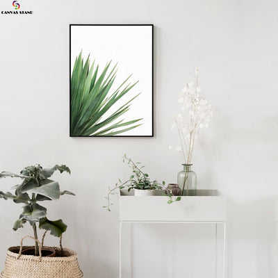 Canvasstand Left side leaves wall decor canvas wall art - Canvas Monsters