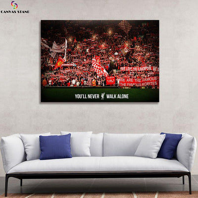 Liverpool You will never walk alone canvas wall art - Canvas Monsters